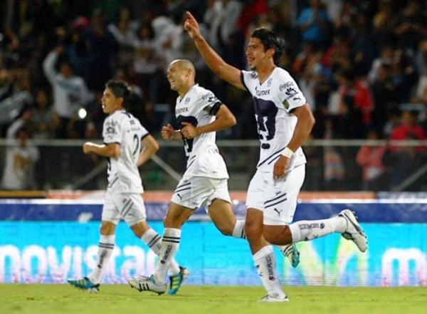 PUDIERON RUGIR. Pumas se hizo fuerte en su feudo, y logró imponerse por un ajustado 2-1 a Monterrey. (Foto: Mexsport)