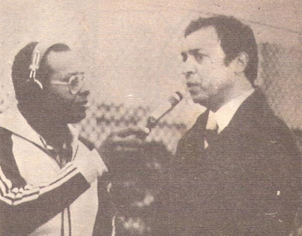 Entrevistado por Elejalder Godos cuando dirigía a La Joya de Chancay, en 1985 (Foto: revista Ovación)