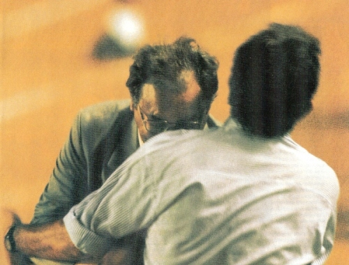 Su inolvidable cabezazo a Jorge Luis Fleitas en la Copa Libertadores de 1999 (Foto: revista El Gráfico Perú)