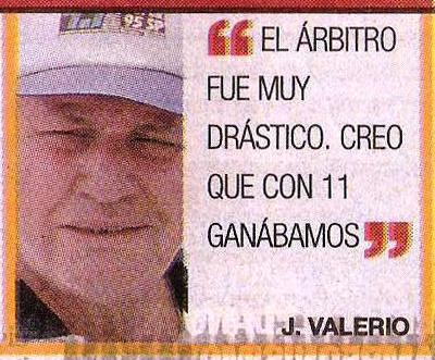 La sentencia del entonces director técnico del IMI de Talara cuando en 1999 ancló en el fútbol peruano (Recorte: diario El Comercio / suplemento Deporte Total)