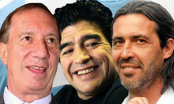¿Serán Bilardo y Batista los ángeles de la guarda del 'Diez'? (Foto: infobae.com)