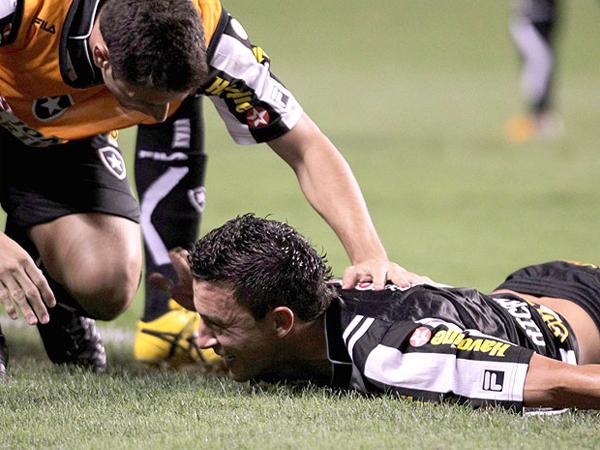 O GLORIOSO. Haciendo uno de sus mejores presentaciones, Botafogo hizo respetar su casa le ganó a Palmeira. (Foto: Agencia O Globo)