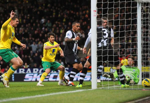 CAÍDA LIBRE. El Newcastle sumó una nueva derrota tras caer 4-2 ante el Norwich. (Foto: Premierleague.com)