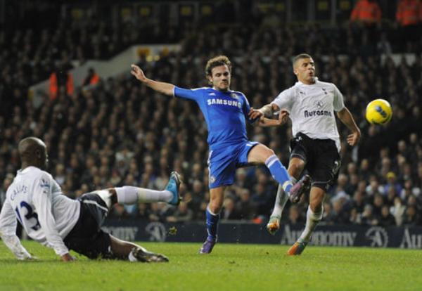 REPARTO DE PUNTOS. El Tottenham y l Chelsea no se sacaron ventajas e igualaron 1-1 en un vibrante cotejo. (Foto: PremierLeague.com)