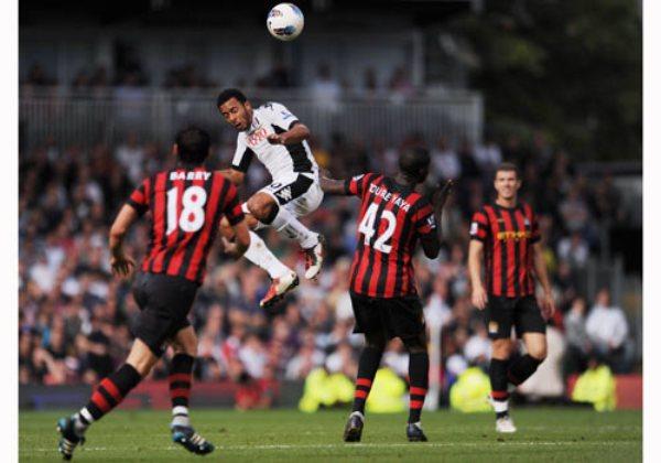 LO FRENARON. El City no pudo lograr un triunfo en condición de visitante ante el Fulham e igualó 2-2. (Foto: premierleague.com)