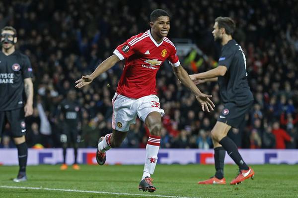 Rashford se salvó de las críticas en el Manchester United. (Foto: AFP)