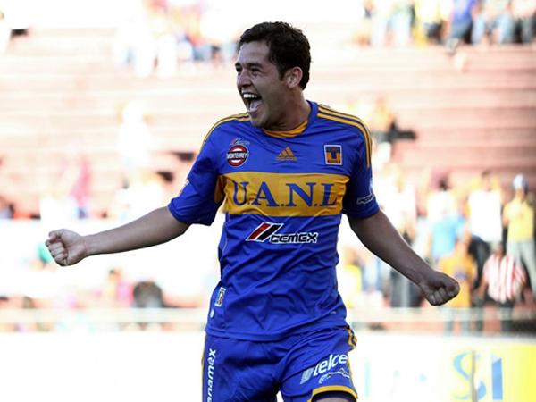 Y RUGIÓ. Israel Jiménez celebra su gol anotado ante Estudiantes Tecos, dándole su primer triunfo a Los Tigres. (Foto: Mexsport)