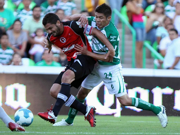 DIFÍCIL DE SUPERAR. Tijuana FC logró su primer triunfo en la Primera División de México. La víctima fue Santos Laguna. (Foto: Mexsport)
