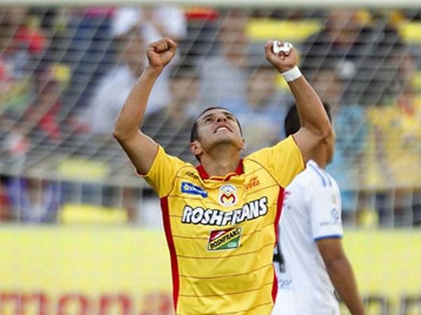 RECONFORTABLE. Morelia vuelve a mostrar protagonismo en el campeonato tras derrotar con creces al conjunto de Querétaro. Un 'Hat Trick' de Miguel Sabah fue lo más resaltante del encuentro. (Foto: Mexsport)