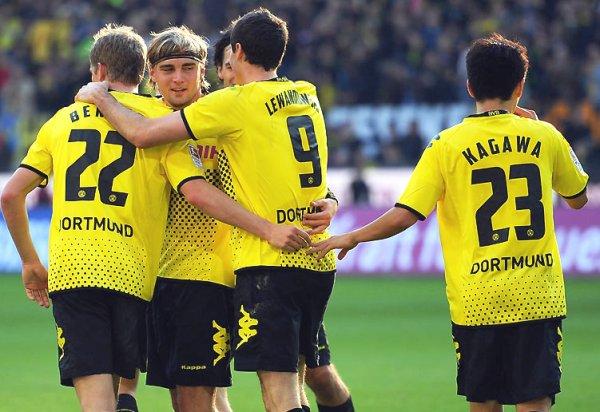 EMPIEZA A SONREIR. El vigente campeón se impuso con autoridad 5-0 ante el Colonia. (Foto: Bundesliga.de)