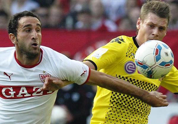 SIN TREGUA. Stuttgart  y Borussia Dortmund igualaron 1-1 en un reñido cotejo. (Foto: Bundesliga.de)