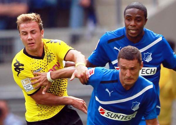 CAYÓ EL CAMPEÓN. Hoffenheim hizo respetar su localía y superó a Borussia Dortmund (Foto: bundesliga.de)