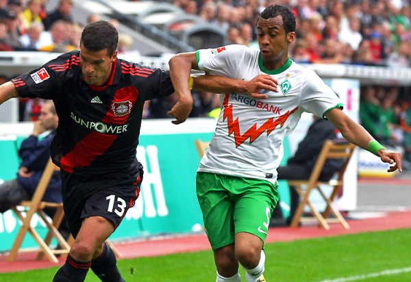 EL BAILE DE LA VICTORIA. Leverkusen se impuso en un reñido partido a Werder Bremen (Foto: bundesliga.de)