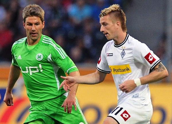 SIGUE SORPRENDIENDO. Borussia Mönchengladbach se hizo con la punta de la Bundesliga tras superar con contundencia a Wolfsburgo en el cotejo que abrió la tercera fecha (Foto: bundesliga.de)