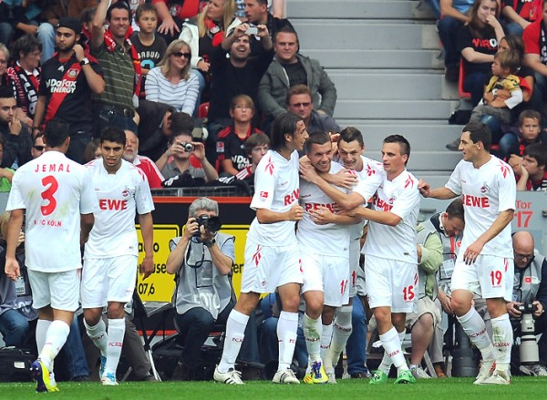 RECORDANDO VIEJOS TIEMPOS. El Colonia protagonizó una de las sorpresas de la fecha al golear al Bayern Leverkusen por 1-4. (Foto: bundesliga.de)