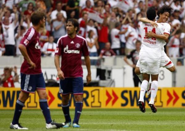 TRES PUNTOS, TRES GOLES. Stuttgart sorprendió al  Schalke 04 y le asestó una goleada de 3-0. (Foto: Reuters)