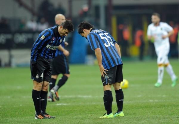 BUENAS TARDAS. El Inter no pudo problemas para imponerse ante el Lecce. El resultado final del cotejo fue de 4-1. (Foto: AFP)