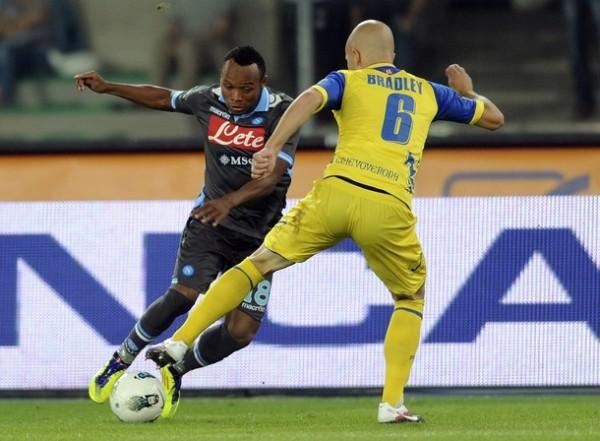 LO FRENARON. Nápoles perdió su invicto tras caer ante el Chievo Verona por 2-1.(Foto: AFP )