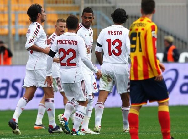 SACÓ LA FUERZA. Lecce ve imponía con comodidad 3-0 ante el Milán. No obstante, el vigente campeón lograría remontar y finalmente se alzaría con una épica victoria de 3-4. (Foto: AFP)