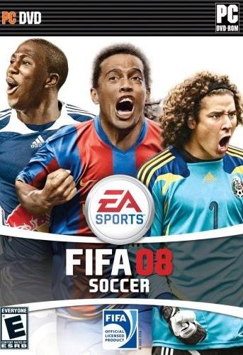 Compartiendo la carátula del FIFA 2008 con Ronaldinho y Ochoa (Imagen: EA Sports)