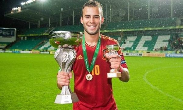 Con la Sub-19 de España, Jesé Rodríguez le sacó lustre a sus botas con los goles que llevaron a su selección hacia el título y a él a consagrarse como el goleador del torneo de la categoría disputado en Estonia (Foto: europapress.es)