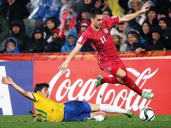 Zivkovic se consagró campeón del Mundial Sub-20 con Serbia (Foto: AFP)