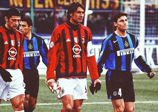 Javier Zanetti y Paolo Maldini son los últimos súper héroes que tuvo estos clásicos. (Foto: EFE)