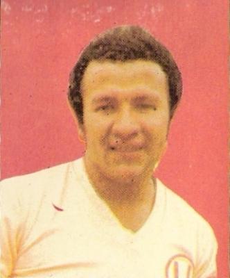El 'Gato' Cuéllar en 1977, siempre con la crema en el pecho. (Foto: álbum Descentralizado 1977-78, Editorial Navarrete)