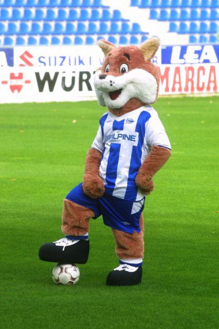 Babazorro es la mascota del club español Alavés, el término también se usa para denominar a los pobladores de Alava (Foto: lcorreo.com)