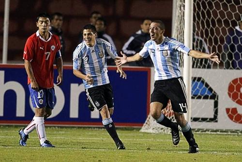 El argentino Claudio Mosca celebra uno de los goles que convirtió en el Sudamericano Sub-20 de Perú, en 2011 (Foto: Reuters)