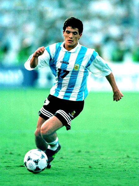 El 'Burrito' Ortega con la camiseta de la selección argentina también tuvo momentos brillantes a lo largo de su carrera (Foto: sporting-heroes.net)