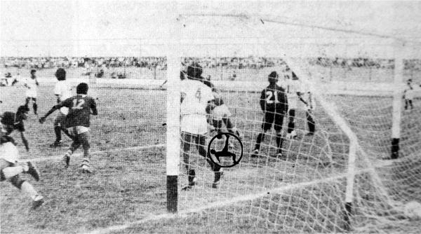 El primer triunfo de 15 de Setiembre como local fue ante UTC jugando en el estadio de Sausal (Recorte: diario La Industria de Trujillo)
