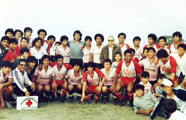 La selección visitó el Manuel Tello Dávila en 1985. (Foto: Facebook)