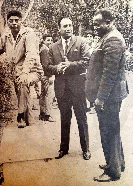 El 'Cholo' Rafael Castillo, el uruguayo Hugo Bagnulo y el brasileño Jaime de Almeida, tres técnicos en la historia de Alianza (Recorte: revista ¡Arriba Alianza!)