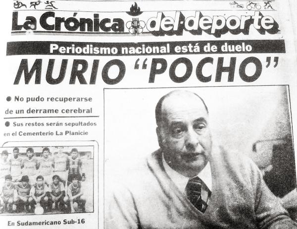 Ya no pertenecía a La Crónica, pero la huella de 'Pocho' Rospigliosi se hizo sentir en su redacción el día en el que falleció (Recorte: diario La Crónica)