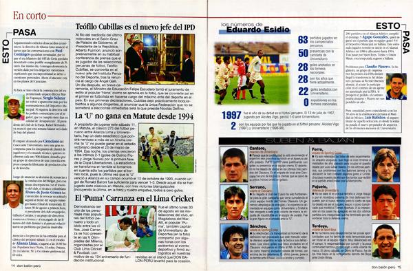 Parte de las secciones especiales que brindaba Don Balón Perú con datos y curiosidades del fútbol (Foto: Don Balón Perú)