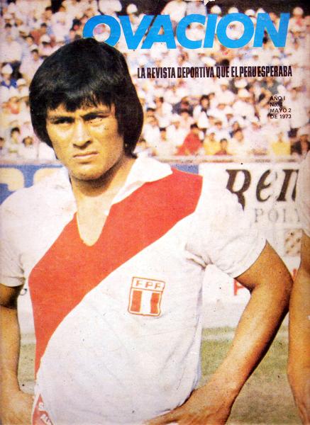 El 'Cholo' Hugo Sotil como protagonista del primer número de la revista Ovación (Foto: revista Ovación)