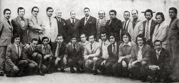 El plantel que conformaba Ovación fue amplio, siempre rodeando a 'Pocho' Rospigliosi que aparece como cabeza del grupo (Foto: revista Ovación)