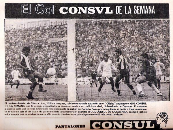 William Huapaya convierte el Gol Consul de la Semana a favor de Alianza nada menos que en un clásico ante Universitario (Foto: revista Ovación)