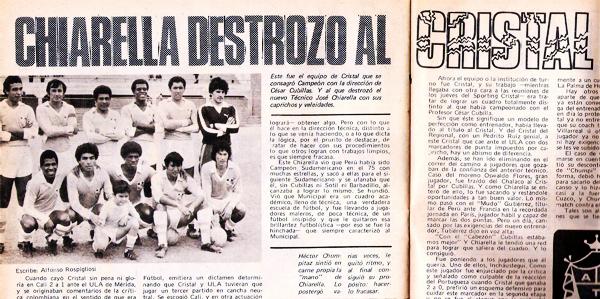 Una crítica directa de Ovación hacia el trabajo que el técnico José Chiarella realizó en Sporting Cristal (Foto: revista Ovación)