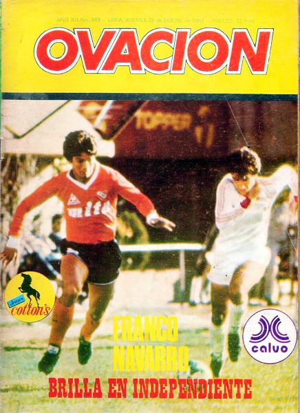 El último número de la revista Ovación con Franco Navarro defendiendo al Independiente de Avellaneda (Foto: revista Ovación)