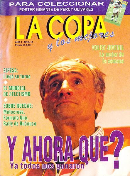 El rápido adiós a Vladimir Popovic contrastó con la fugaz aparición de la revista que con este número dejó de circular en el medio (Recorte: revista La Copa y Los Mejores)