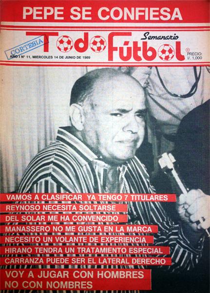 'Pepe', el técnico brasileño que dirigió a la selección peruana en una olvidable campaña de las Eliminatorias al Mundial de Italia 1990 (Recorte: revista Todo Fútbol)