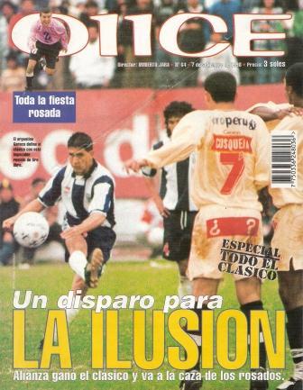 Gareca en portada (I): en el festejo luego del gol (Recorte: revista Don Balón Perú, N° 25 p. 1)