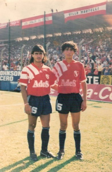 El 'Bombero' Ibáñez previo a un encuentro del club donde emergió: Independiente de Avellaneda (Foto: Talentos Fútbol)