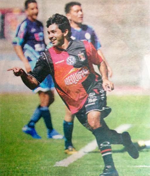 Con Melgar anotó su primer gol en Perú frente a la Vallejo (Recorte: diario Líbero)
