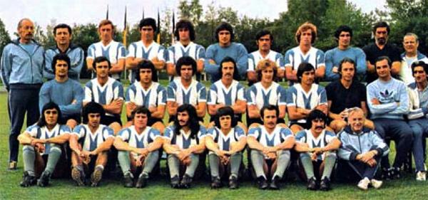 La selección argentina de 1974 que dirigió Cap -el segundo de la fila superior- (Foto: todofutbolpasion.com)
