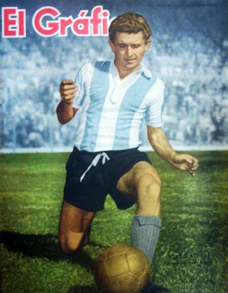 Con la albiceleste cuando Vladislao Cap era uno de los más destacados futbolistas argentinos (Foto: revista El Gráfico)