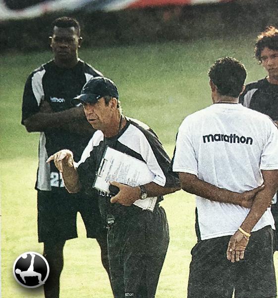 Gerardo Pelusso le dio oportunidades a Poroso. Sin embargo, su desempeño no fue el deseado. (Recorte: diario El Bocón)