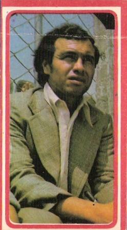 Como DT merengue poco después de su retiro (Cromo: álbum Descentralizado 1975, Editorial Navarrete)